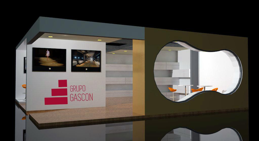 Dise o y montaje de stands grupo gascon for Disenos de stand para exposiciones